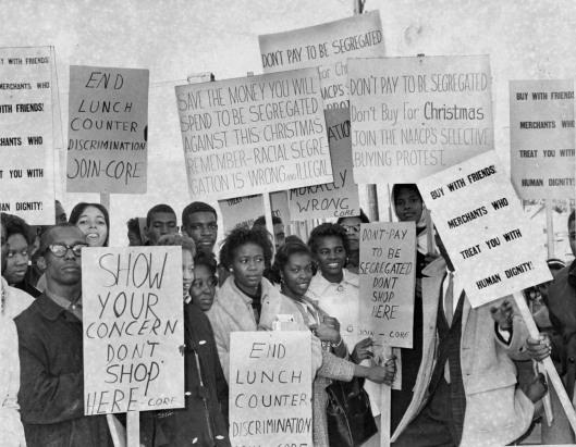 Boicote contra loja nos EUA em dezembro de 1960 promovido pela NAACP.