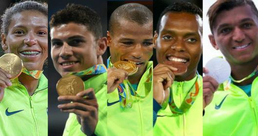 5 medalhistas